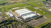 Site of new factory in St Athan, South Wales