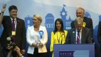 The first declaration in Scotland sees Labour take Rutherglen and Hamilton West from the SNP.