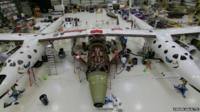 Spacecraft under construction