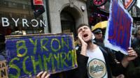 Byron burger protest
