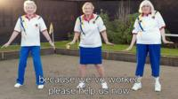 Chadstone Bowls Club members do the Beyonce All The Single Ladies dance