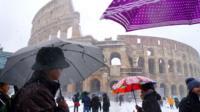 Outside the Colosseum, Rome