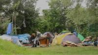 Tented village