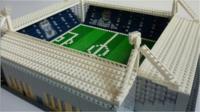 A Lego football ground