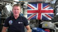 Tim Peake on the ISS