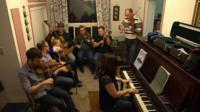 People playing Gaelic music