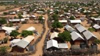 Shelters at Dadaab camp