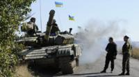 Ukrainian tank deployed in east, Oct 2015 file pic