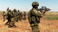 African forces in military training