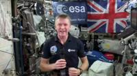 Tim Peake on board the ISS