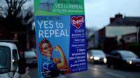 Abortion referendum poster