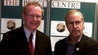 Martin McGuiness (left) and Colin Parry