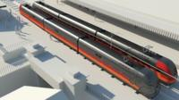 An image form the 3D animation of the south Wales Metro