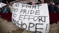 Villa fans' banner