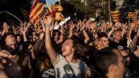 Protest in Catalonia