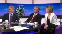Owen Paterson, Hilary Benn and Laura Kuenssberg
