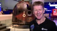 Tim Peake with his Soyuz capsule