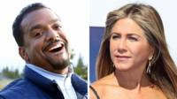 Alfonso Ribeiro and Jennifer Aniston