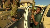 Pro-government forces in Sirte, Libya
