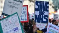 'Save our NHS' signs