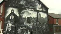 Murial depicting the Belfast Blitz