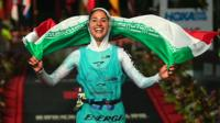 Iran's first female triathlete crosses the finishing line