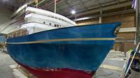 Model of the Royal Yacht Britannia