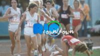 Mary Decker (right) and Zola Budd