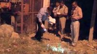 Police in Delhi collect evidence