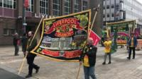 May day banner in Liverpool