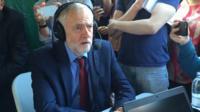 Jeremy Corbyn reacts to David Cameron's resignation