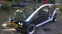 A car made from biocomposite materials