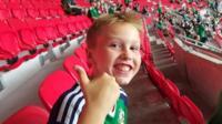Zak McGall at the Ukraine vs Northern Ireland game