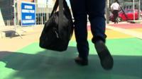 British official walking