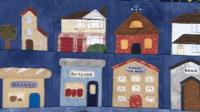 A quilt on show at the Festival of Quilts