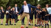 Prince William scores a goal