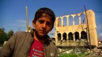 A young boy in western Mosul