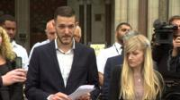 Charlie Gard's dad, Chris, breaks down outside court after ending the legal fight to take him to the US.