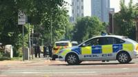 police car attending manchester attack