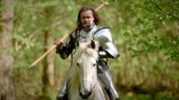 Jason Kingsley makes video games for a living. But he strives to live his life according to the values of a medieval knight. Video journalist Greg Brosnan.