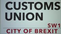 Customs union sign