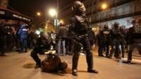 French police make an arrest in Paris