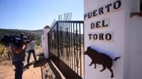 The Puerto del Toro estate where the body of the former President of Bankia Miguel Blesa was found at Villanueva del Rey on 19 July