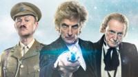 Mark Gatiss, Peter Capaldi and David Bradley