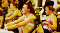 Team GB rowers training