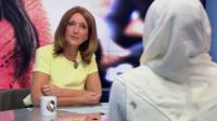 Zara in conversation with BBC presenter Victoria Derbyshire