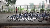 Rental bikes in China