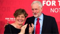 Emily Thornberry with Jeremy Corbyn