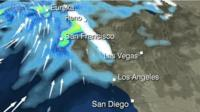 BBC Weather graphic showing Monday evening's forecast for California.