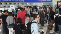 Passengers stranded at Heathrow airport say that they are being kept in the dark by the airline, as disruptions continue.
